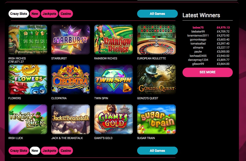 online casino sites crazy slots