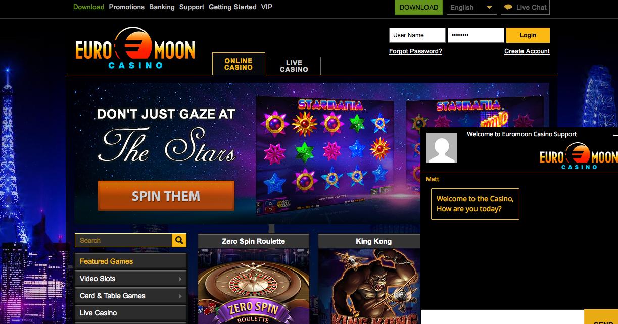 бездепозитный бонус казино euromoon