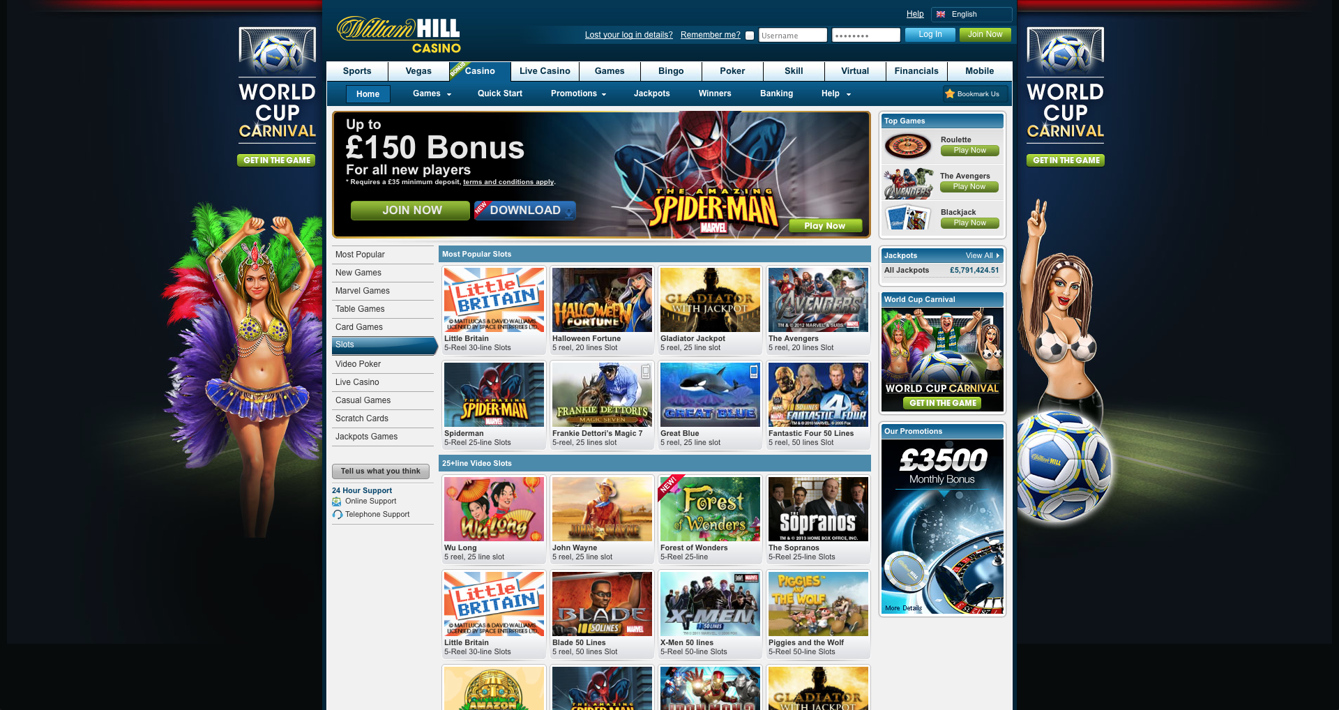 william hill slots free
