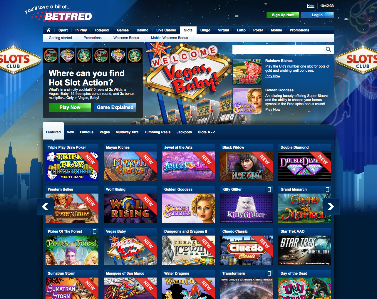 Play Casino Live Casino and Games for Free with Betfred