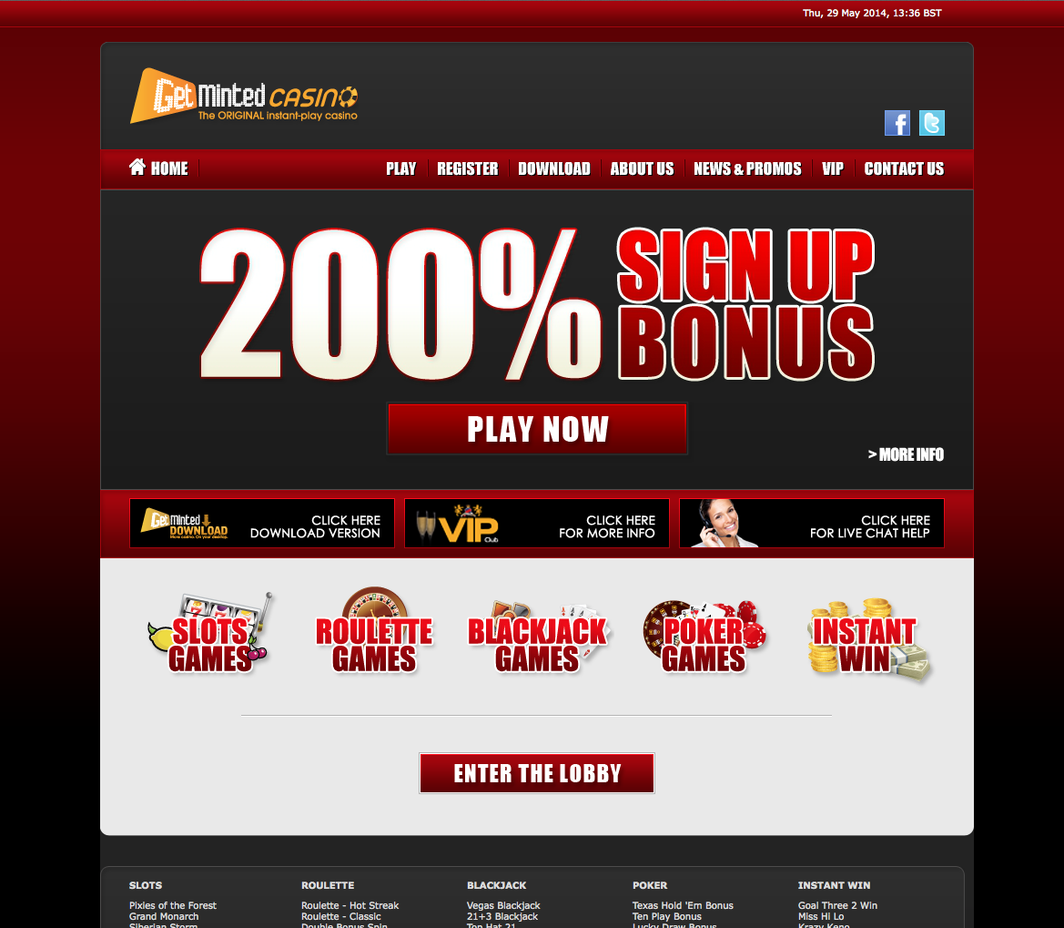 Www casino getminted casino electronic games