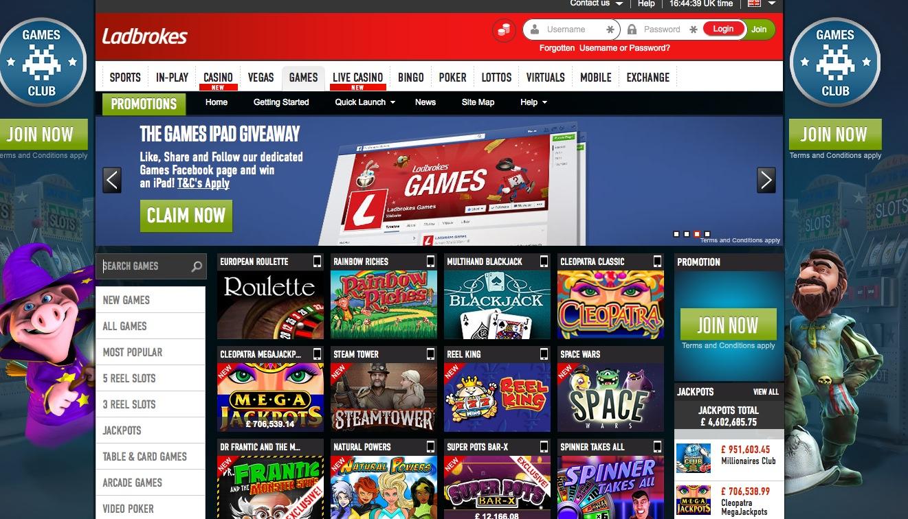 slots games ladbrokes